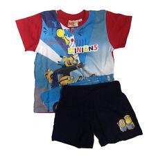 MINIONS pyjama courts t-shirt +short coton rouge différentes tailles par bim