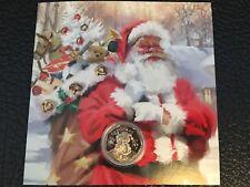Christmas CARD + Santa Claus 50p pence 2017 coin Gibraltar XMAS Collector Gift