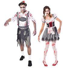 His Hers Couples Oktoberfest Beer Zombie German Bavarian Fancy Dress Costume