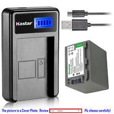 Kastar Battery LCD Charger for Sony NP-FP90 FP91 Sony DCR-SR60 DCR-SR70 DCR-SR80