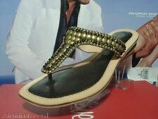S.Oliver Sandalen, Zehentrenner Schuhe, Damen Pantoletten gold 27109