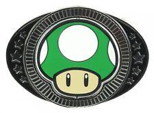 Nintendo MUSHROOM BELT BUCKLE Super Mario 1 Up Game 64 ds 3ds wii wiiu Men Women