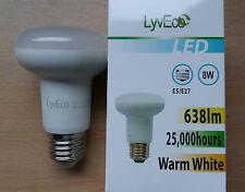 8w LED R63 Reflector Light Bulbs ES Screw In E27 Warm White 55w Great Value!
