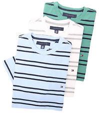 Tommy Hilfiger Men's Short Sleeve Crew-Neck Stripe Tee T-Shirt - $0 Free Ship