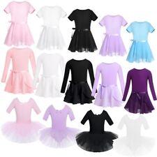 Girls Kids Tutu Ballet Leotard Dance Dress Ballerina Gymnastic Dancewear Costume