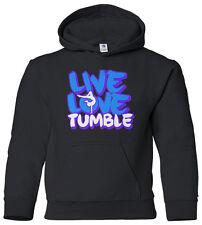 Live Love Tumble Youth Hoodie Sweatshirt Gymnast Saying Slogan Quote