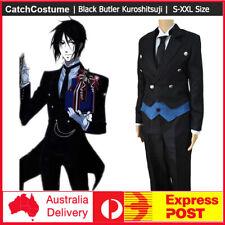 Black Butler Kuroshitsuji Sebastian Michaelis Black Uniform Cosplay Costume