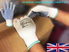 20 Pairs Picker Packer PVC POLKA DOT Nylon Work Gloves PICK & GO Safety Grip