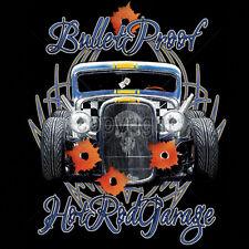Bullet Proof Garage Hot Rat Rod Car Racing T-Shirt Tee