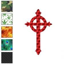 Celtic Cross Religion Decal Sticker Choose Pattern + Size #155
