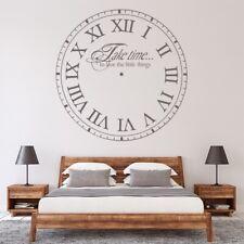 Weź czas na miłość Zegar Naklejka Na ścianę WS-15079