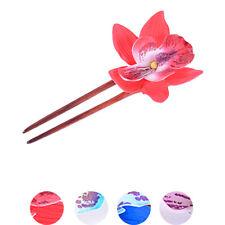 Vintage Retro Tiki ORCHIDEEN Blüten Flower Haarnadel / Haarkamm Rockabilly