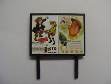 Ah! Bisto Makes the Meal and Murraymints - Model Billboard - N & OO Gauge
