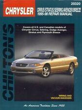 Chilton Repair Manual Repair Guide Cirrus,Sebring,Avenger,Stratus,Breeze 95-98