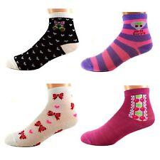 12 Paar Kids Mädchen Socken Ladies Kinder Strümpfe 95% Baumwolle A-G004 Gr.17-36