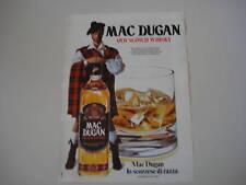 advertising Pubblicità 1974 WHISKY MAC DUGAN