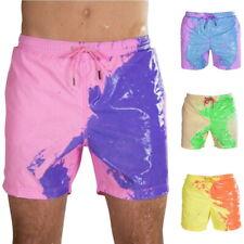 Color Changing Swim Trunks - Temperature Sensitive Shorts Summer Beach Swimwear