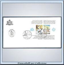 1989 San Marino Busta FDC Foglietto Europa Unita n. 32