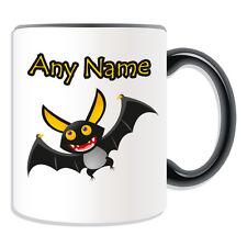 Personalised Gift Bat Mug Money Box Customise Name Message Coffee Cup Halloween