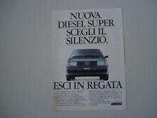 advertising Pubblicità 1984 FIAT REGATA DS