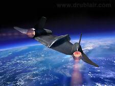"""The Peacekeeper"" Dru Blair Signed Print - A-12 Piloted by Jack Weeks (CIA)"