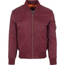 Urban Classics - SHINY BOMBER Jacket burgundy