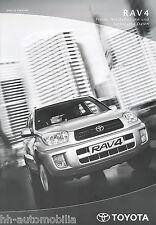 Toyota RAV4 Preisliste 18.8.01 price list 2001 Auto PKWs Japan Preise Asien car