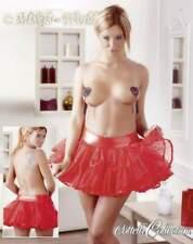 S-Sexy Petticoat Tüll Mini-Rock zweilagig mit Unterrock scharfer Damenrock rot