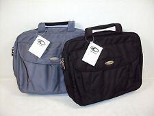 Laptop Attache/Briefcase w/Shoulder Strap ~ HSU Concepts ~ Black or Grey ~ LA201