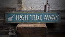 Custom Beach, Horseshoe Crab Decor - Rustic Distressed Wood Sign ENS1000846