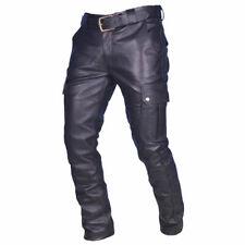 Men's Genuine Leather Cargo Biker trouser pants
