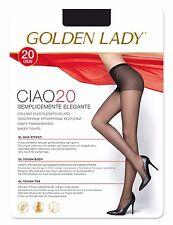 10 PAIA COLLANT GOLDEN LADY CIAO 20 VELATO ELASTICIZZATO TAGLIE 2-3-4