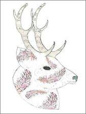 Sarah Ogren: Feather Deer Keilrahmen-Bild Leinwand Hirsch Geweih Wild modern