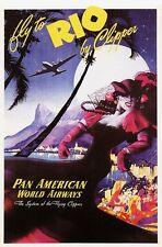 Vintage Póster de viajes aéreos Rio Pan Am A3/A2 impresión