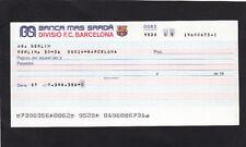 Futbol Club Barcelona /Banca Mas Sardá unissued  Check 1984-86 UNC