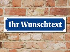 Schild oder Aufkleber - Straßenschild-Design - Wunschtext 49 x 12 cm