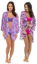 Tom Franks Ladies Semi-Sheer Floral Kimono Wrap Top