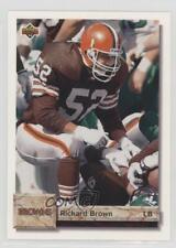1992 Upper Deck #70 Richard Brown Cleveland Browns RC Rookie Football Card