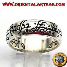 anillo de compromiso anillo de Señor De Los Anillos De Plata