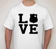 love officer vest badge police cops guns handcuff cuff amo bullets shirt t-shirt