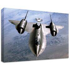 Lockheed SR- 71 BLACKBIRD CANVAS | LARGE WALL ART | SR71 pilots plane stealth 2