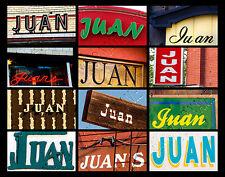 JUAN Name Poster featuring actual sign photos