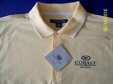 Cobalt Boats Screen Printed Dri-Fast Chestnut Hill Pique Polo Golf  Maize/White