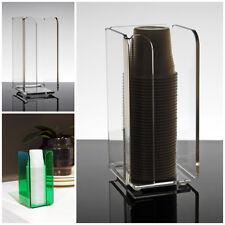 Slato Dispenser porta bicchieri plastica da caffè in plexiglass Narciso