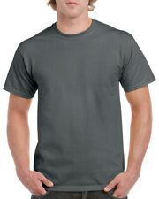 GILDAN CHARCOAL GREY Heavy Cotton T Shirt MENS PLAIN T-SHIRT: S M XL XXL