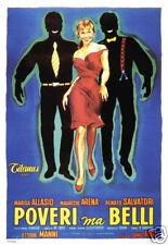Poveri ma belli Marisa Allasio vintage movie poster
