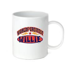 Coffee Cup Mug Travel 11 15 oz World's Greatest Best Willie