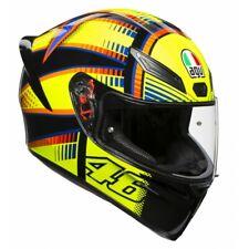 Casco integrale moto Agv K-1 Valentino Rossi Soleluna doppio anello pista corsa