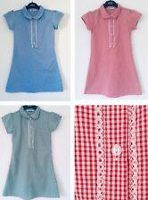 New Ex Store Girls Checked Blue Red Green Gingham school Summer Dress Uniform