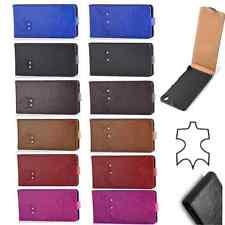 % Echt Leder Flip Handy Tasche Hülle Cover Etui für ver. Handy Modell Swarovski